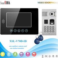 SmartYIBA Fingerprint/Password Code Unlock Door Camera Video Door Phone Video Doorbell RFID Control Apartment Intercom System