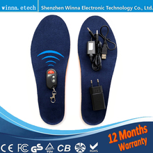 Wireless Remote Control 1800mAh Electric Heated Insoles Winter Thermal Insoles Anti-Slippery Breathable Shoe Pads For Men Women