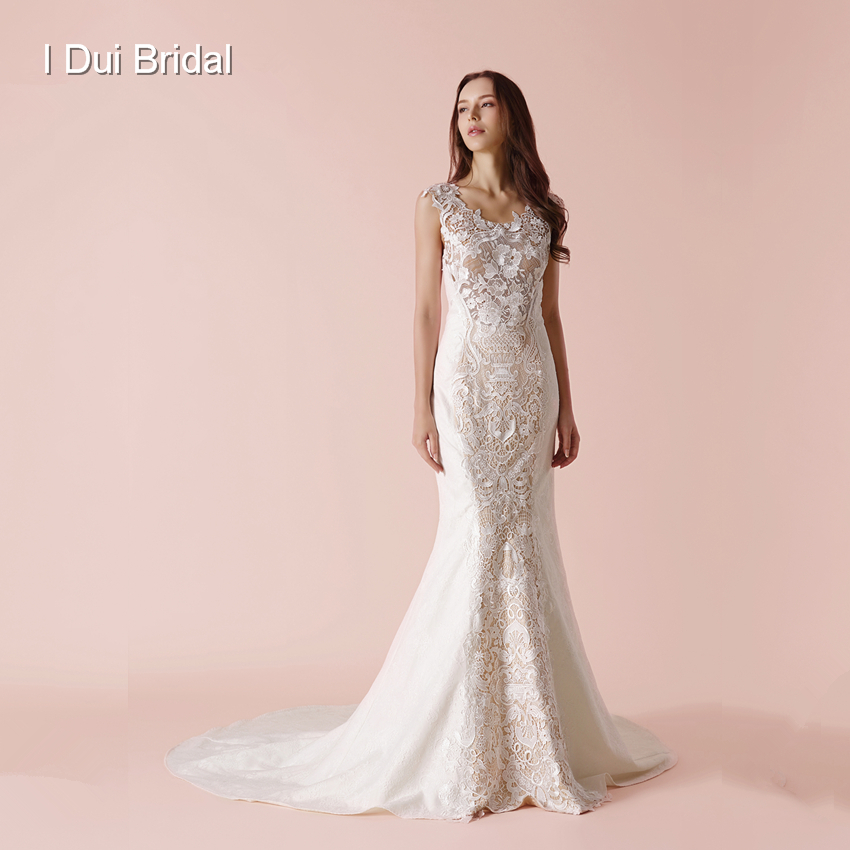 Sheath Lace Wedding Dress New Design Bridal Gown