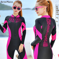 2017 Сёрфинг купальники для женщин пляж серфинг мотор одежда с Длинные рукава цельный Большие размеры Гидрокостюмы водолазный костюм xxxl