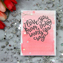 YaMinSanNiO Letter Thank You Love Metal Cutting Dies Heart Scrapbooking for Card Making Crafts Die Cuts Embossing Stencil