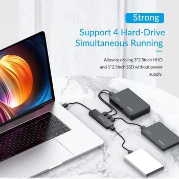 High Speed 4 Ports USB HUB with Power Port 2