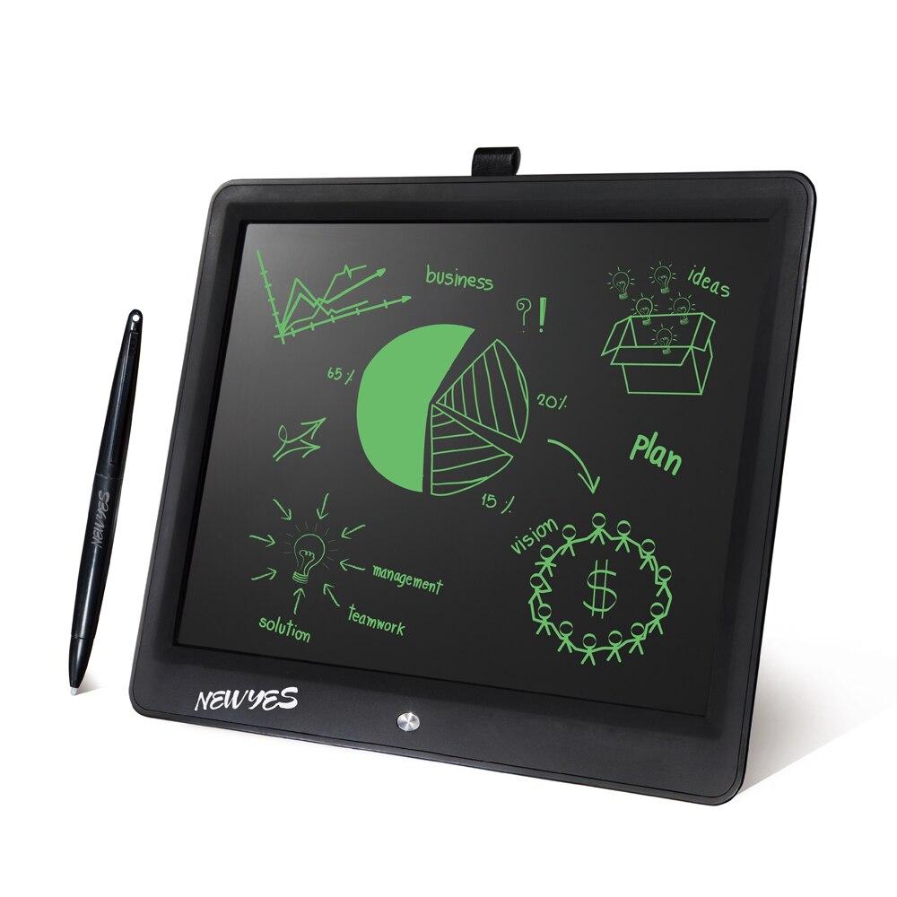 """NEWYES 15 """"LCD tablette d'écriture effaçable ebook lecteur dessin tablette électronique sans papier LCD écriture manuscrite enfants cadeau tableau d'écriture Pad-in EBook Reader from Electronique    1"""