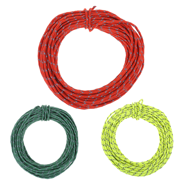 15m 2.5mm Camping Tent Rope Reflective String Windproof Noose Tent Rope for Fixing Camping Tents Sun Shelters Awning