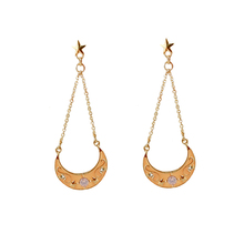 SANSUMMER Simple Lady Temperament Moon Chain 2019 New Style Fashionable Long Simulated-Pearl Casual Womens Earrings 6467