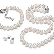 ГОРЯЧЕЙ продать Стиль>>>> набор из 9-10 мм южного моря белый жемчужное ожерелье браслет серьги