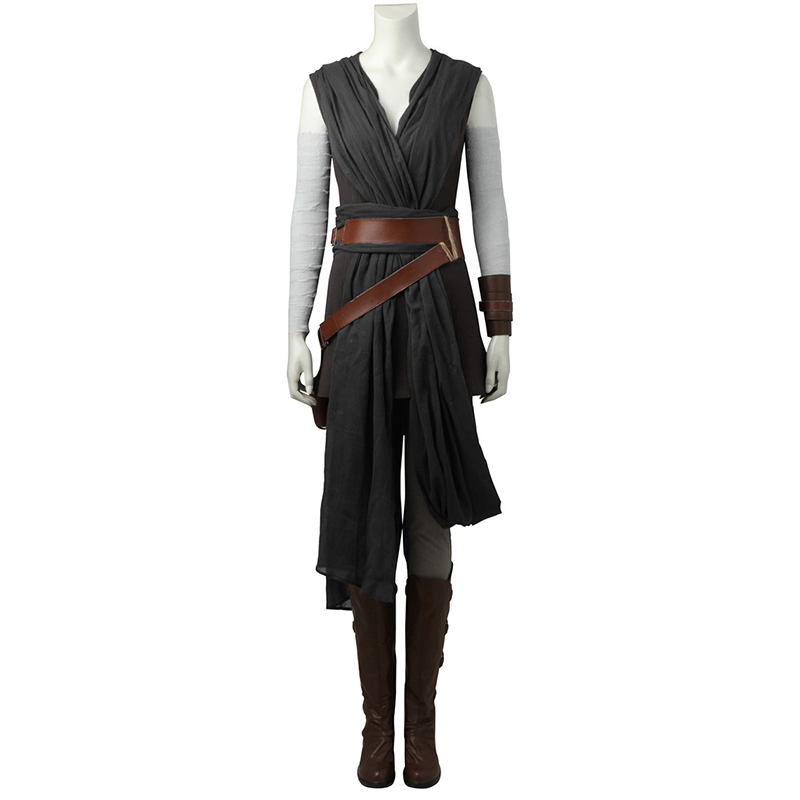 Star Wars The Last Jedi Rey Cosplay Costumes New Year Clothes Movie Superhero Full Set Halloween With Boots Custom Made Women