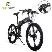 RichBit RT 860 36 В в * 250 Вт 12.8Ah горный Гибридный электровелосипед Велоспорт Watertight рамка внутри Li on батарея складной ebike