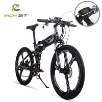 RichBit RT-860 36 V * 250 W 12.8Ah bicicleta eléctrica híbrida de montaña ciclismo marco hermético dentro de la batería li-on plegable ebike