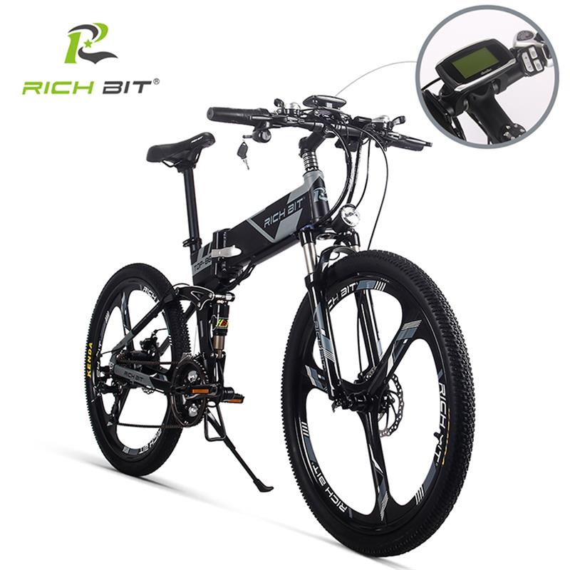 RichBit RT-860 36 V * 250 W 12.8Ah Montagne Hybride Électrique Vélo Vélo Étanche Cadre À L'intérieur Li-sur Batterie pliage ebike