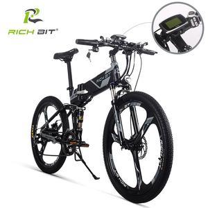 Image 1 - RichBit RT 860 36V * 250W 12.8Ah הרים היברידי חשמלי אופניים רכיבה על אירופאי מהיר deliveryFrame בתוך Li על סוללה פי