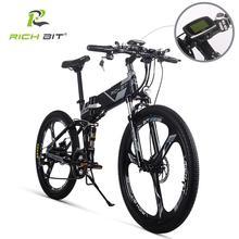 RichBit – Vélo électrique hybride pliable RT 860, de montagne, batterie li on 36V x 250 W, 12,8 Ah, livraison européenne rapide