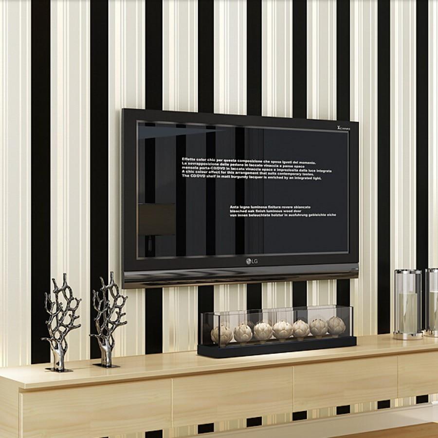 Beibehang moderne non-tissé noir blanc argent paillettes rayé papier peint pour murs 3 d papier peint rouleau papel de parede listrado