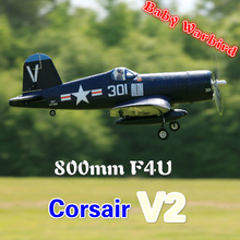 FMS 800mm Mini F4U Corsair V2 Blue 4CH 2S EPO Small Cheap PN