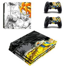 Anime Dragon Ball PS4 Pro Skin Sticker and Controllers for Dualshock 4 PS4  Pro Stickers Decal e76136b1feb