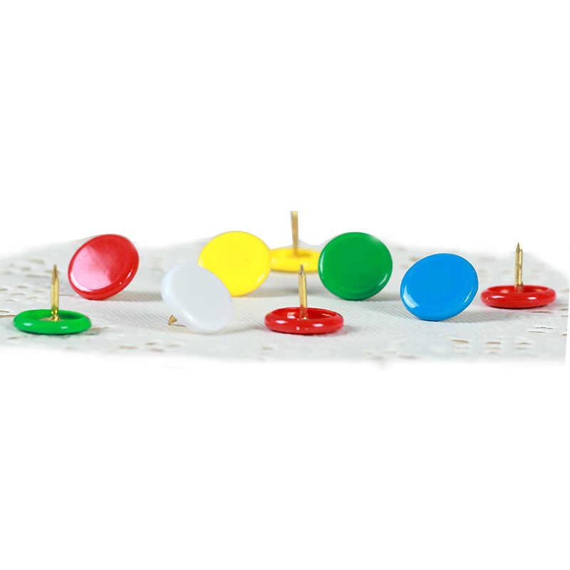 100 stks/partij Kawaii Gekleurde Metalen Duim Kopspijkers Briefpapier Tekening Push Pins Kurk Boord Pins Kaart Pin Voor Decoratie Schoolbenodigdheden