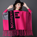 Bat sleeve sweater Oversized Sweater Autumn winter sweaters women Tassel cloak shawl coat christmas sweater ladies pullovers