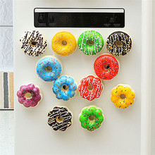 6pcs Fridge Magnets Artificial Donuts Buttons Cactus Refrigerator Messages Decorations