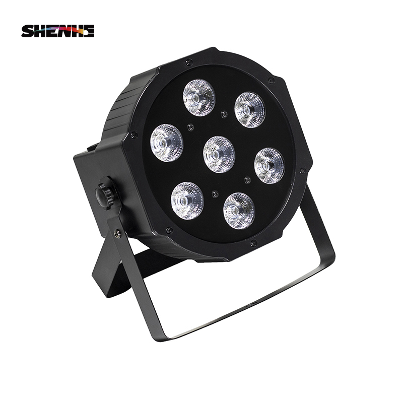 LED Par 7x12W RGBW 4IN1 Wash Lighting Professional For Stage Effec Atmosphere Of Disco DJ Music Party Club Dance Floor Shipping