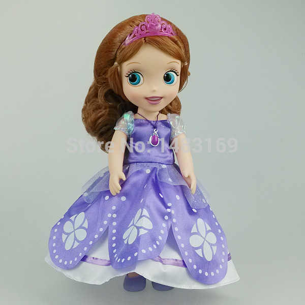 Panas Sekarang Fashion Asli Edisi Sofia Putri Boneka Vinyl Mainan Boneca Aksesoris Boneka untuk Anak Hadiah