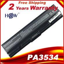 HSW laptop battery For Toshiba pa3534 pa3534u PA3534U 1BAS PA3534U 1BRS Satellite A300 A500 L200 L300