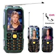 DBEIF D2016 Двойной фонарик FM 13800 мАч mp3/mp4 power bank антенна Аналогового ТВ Прочный мобильный телефон сотовый P242