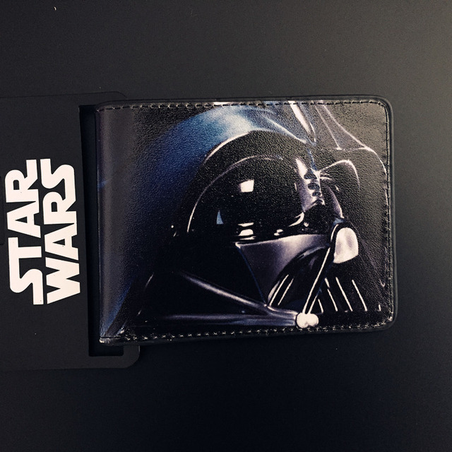 Star Wars wallet animation film surrounding the Black Knight R2-D2 Bai Bing PU wallets dollor price Cion Purse For Children Gift Kids Wallets