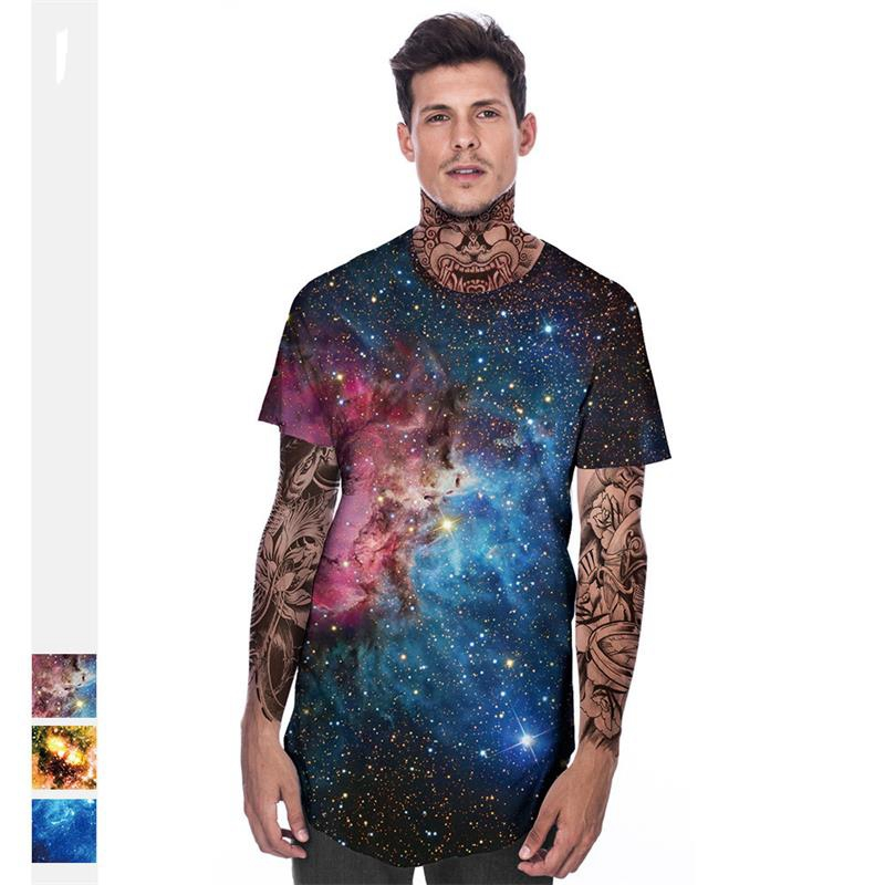 3 Style New Galaxy Space 3D T Shirt Summer Mens Fashion Tops  Print Hollister Men Short Sleeve Loose Casual Youthup T-Shirts