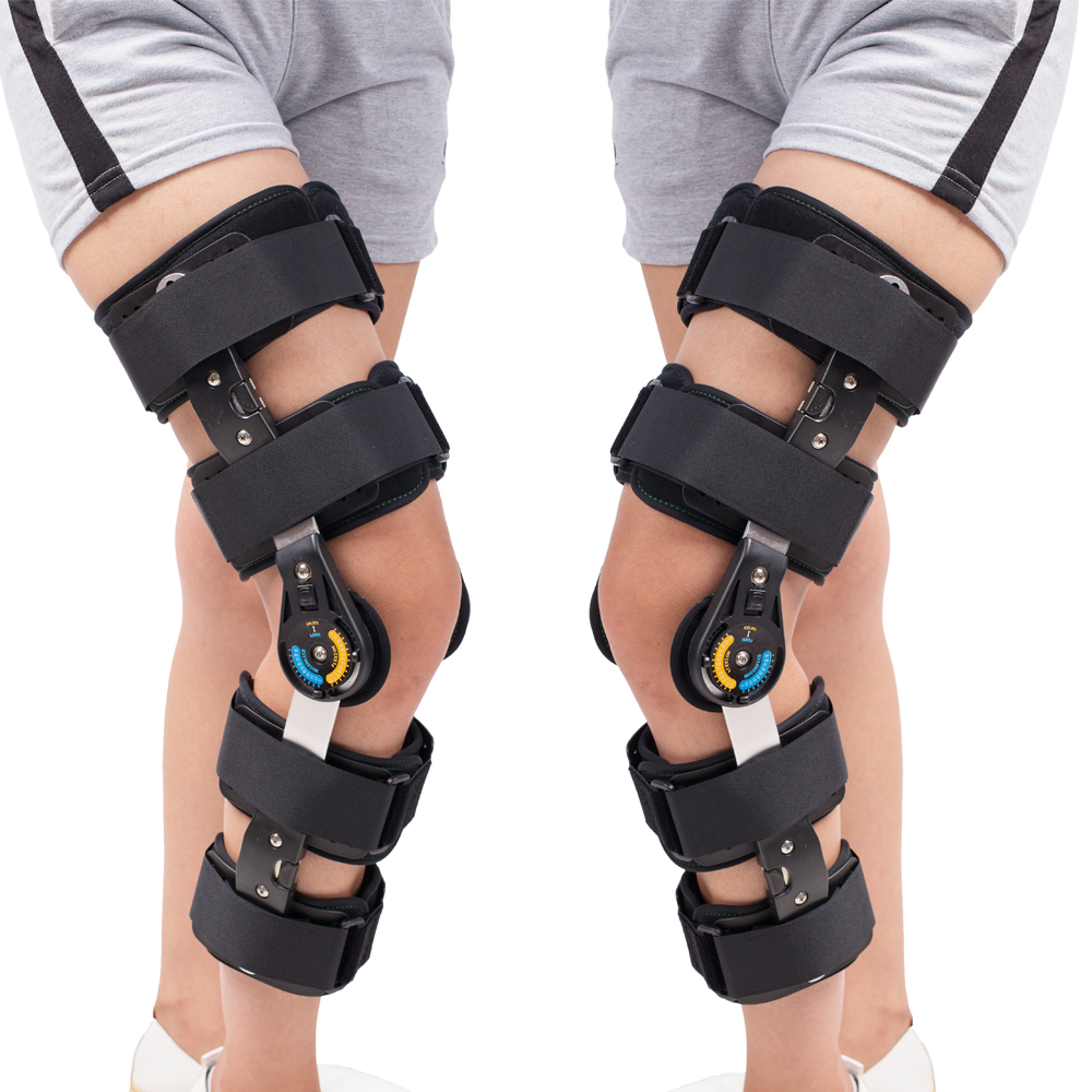 Orthopedic <font><b>Knee</b></font> Pads <font><b>Knee</b></font> Braces Orthosis <font><b>Knee</b></font> Support Medical Orthotic Devices ROM Hinged Adjustable Prevent Hyperextension