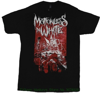 Adult tshirt S-2Xl Motionless In White Mens T-shirt - Haunted House Knife Stab Image