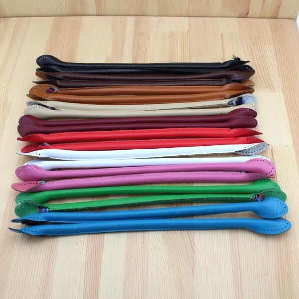 1 Pair 40cm New Fashion Bags Round Belt Handle Strap Women Diy Replacement Shoulder Handbag Faux Leather Strap Kz0003