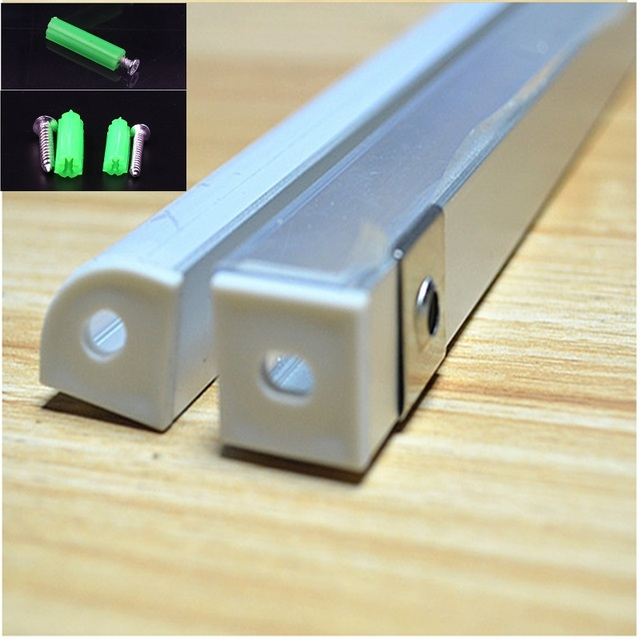 2-30 sztuk/partia 0.5 m/sztuka 45 stopni rogu profil aluminiowy do 5050,3528 taśmy led, mleczny/przezroczysta osłona bar kanał do 10mm pcb