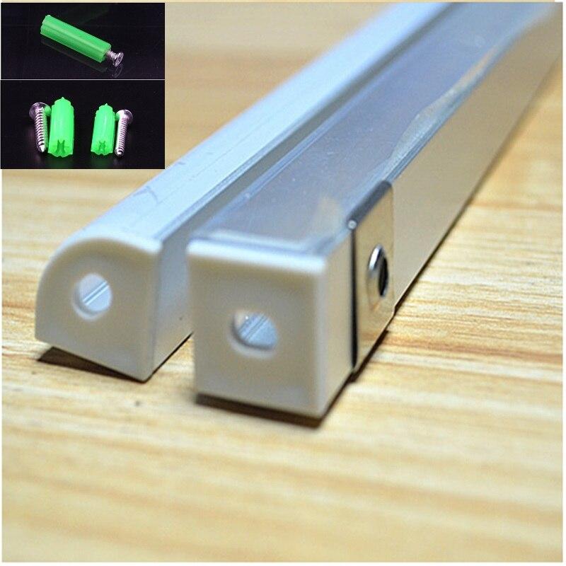 Image 3 - 2 30pcs/lot 0.5m/pc 45 degree corner aluminum profile for 5050,3528  led strip,milky/transparent cover bar channel for 10mm pcb-in LED Bar Lights from Lights & Lighting