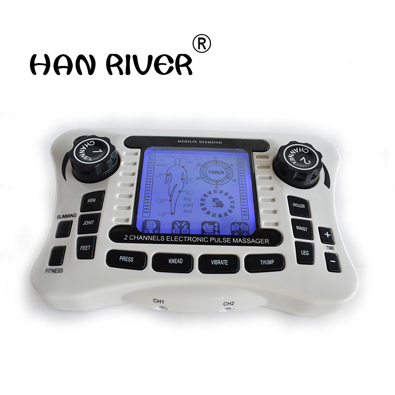TENS UNIT/Dual channel output TENS EMS pain relief/Electrical nerve muscle stimulator/Digital therapy massager/Physiotherapy dhl ems ni scxi 1162 assy 182235 01 rev a 32 channel optically isolated digital input c3 d9