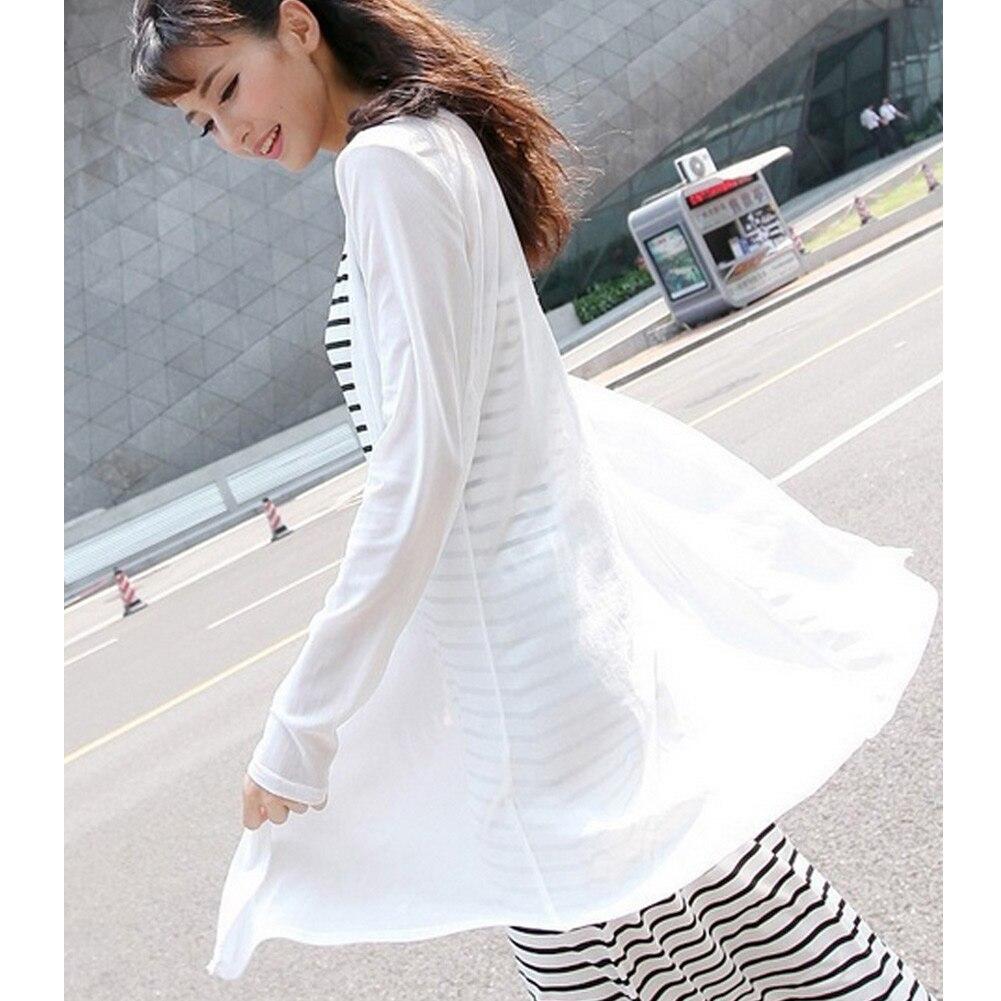 36fc0f8154 Plus Size 3XL 4XL 5XL Kimono Tops Women Cardigans Mesh Long Sleeves Open Shirt  Sheer Long