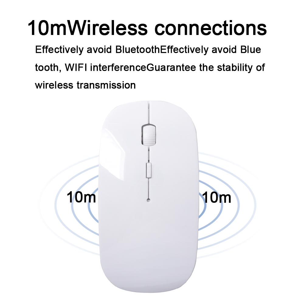 2.4G Wireless Mouse 1600 DPI USB Optical Wireless Computer Mouse 2.4G Receiver Super Slim Mouse Pink one size 5