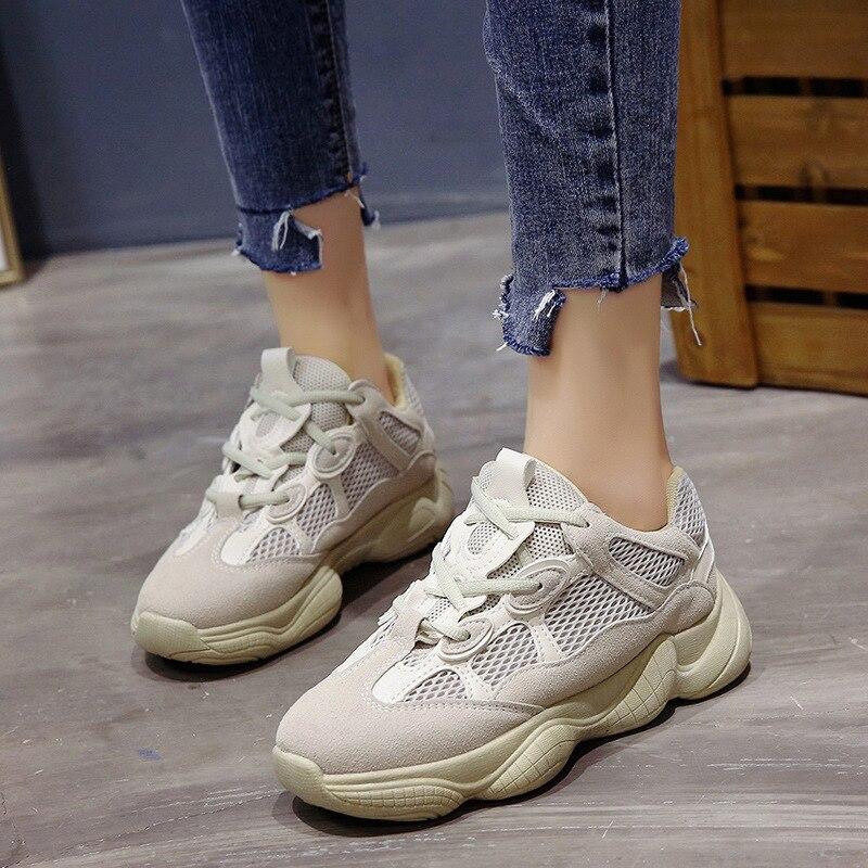 Loisirs Lacets À Mode Décontractées Chaussures Femmes Sneakers Croissante Hauteur Vulcaniser Haute Blanc Femelle YUBznnax0
