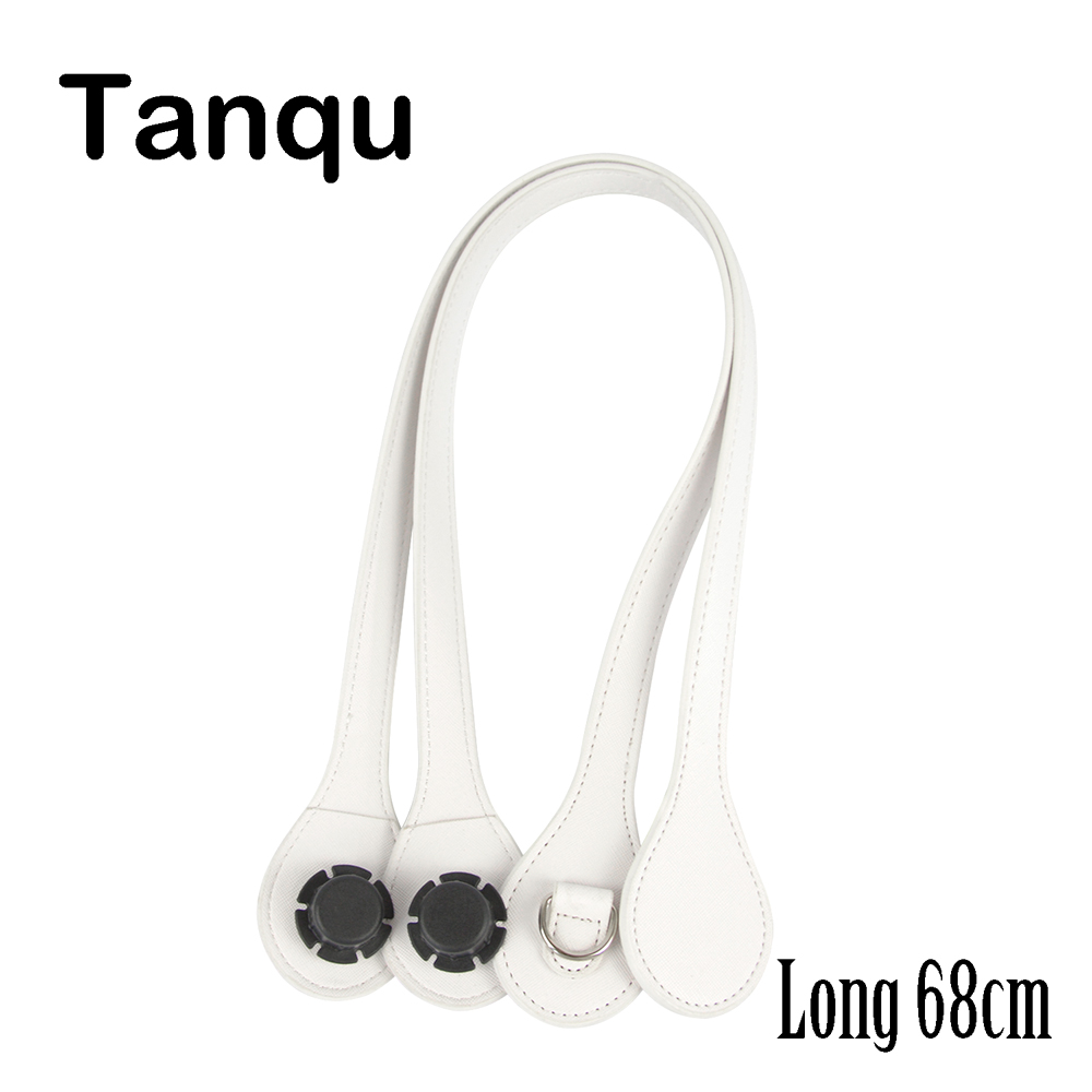 Tanqu Long Edge Painting D Buckle Round Teardrop End Handles Faux Leather Handles For OBag Belt For EVA O Bag
