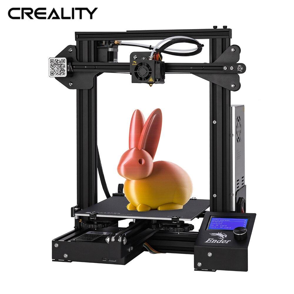 Mais novo Full Metal Ender-3/Ender-3X/Ender-3PRO CRIATIVIDADE 3D Open Source Impressora Impressora 3D Com Removível Construir Superfície
