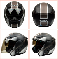 ZEUS Modular Helmet Protective Gear Motorcycle Double Lenses Capacete Full Face Half Face Flip Up 3 in 1 Motocross Brand Helmets