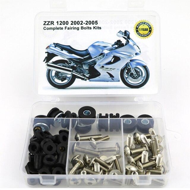 MotoBrackets Windscreen Nut and Bolt Kit Fits 2002-2005 Kawasaki ZZR1200