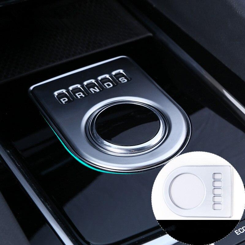Welkinry Авто Крышка для Jaguar F PACE 2016 2017 2018 ABS Matt Silver Придерживайтесь переключения передач базового уровня пьедестал передач письмо отделкой