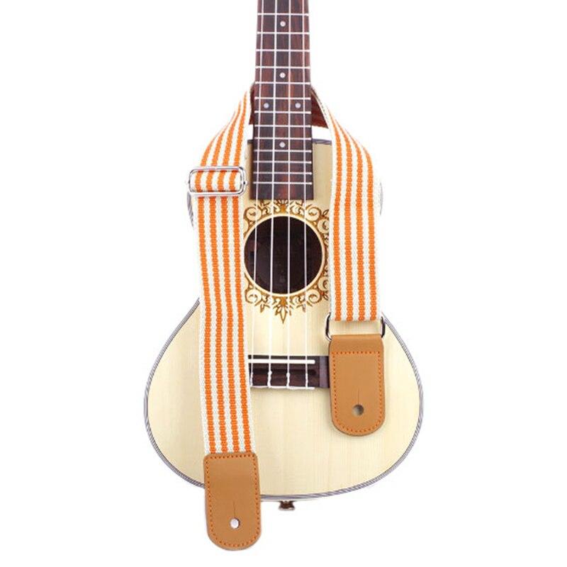adjustable ukulele strap orange stripes hawaii guitar shoulder strap belt for concert soprano. Black Bedroom Furniture Sets. Home Design Ideas