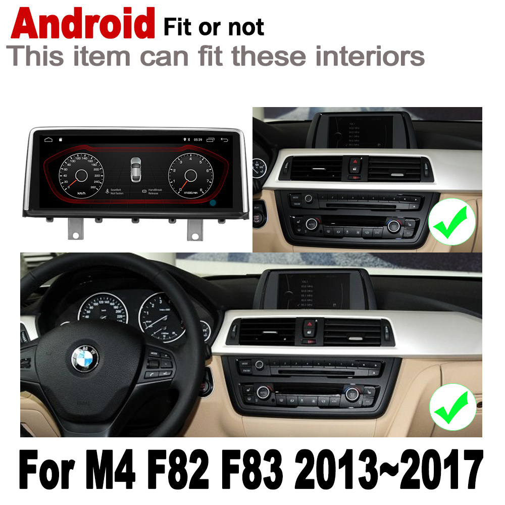 """ספיישל משחקי-Quercetti 10.25"""" סטריאו מסך HD אנדרואיד 7.0 עד לרכב GPS Navi מפה BMW M4 F82 F83 2013 ~ 2017 NBT מקורי סגנון נגן מולטימדיה לרכב (2)"""