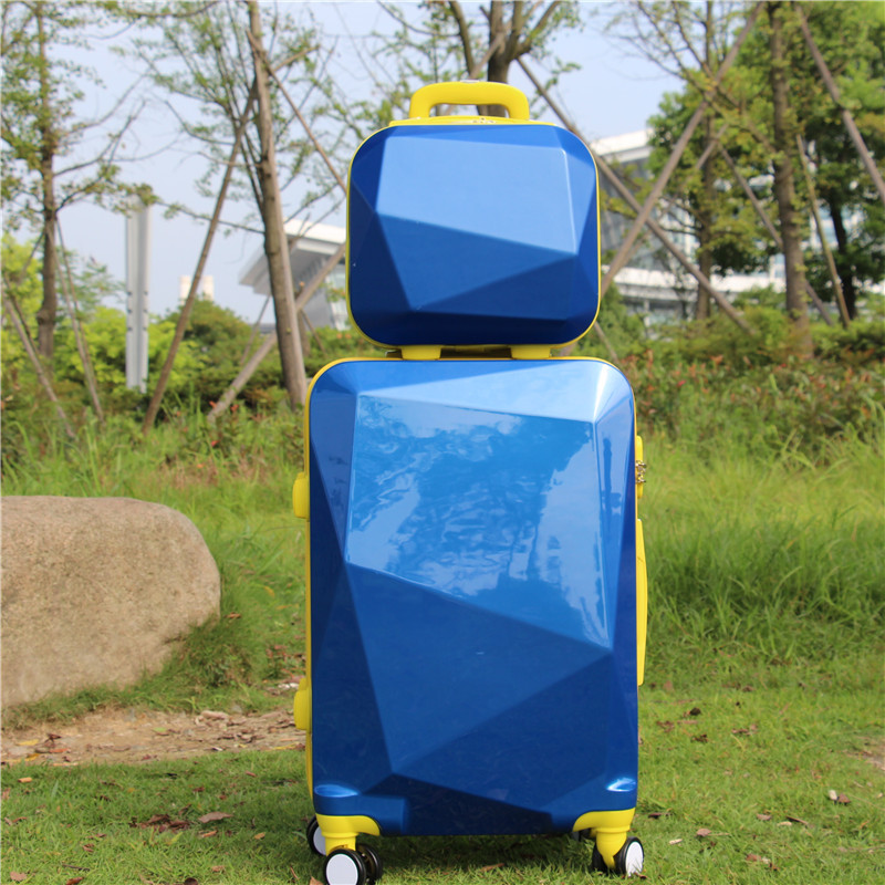 Women Luggage Travel Suitcase bag ,ABS+PC Trolley Case with Rolling , Fashion Universal Wheel Lockbox, Password box