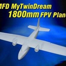 MyTwinDream 1800 мм FPV EPO RC самолет с дистанционным управлением с электрическим питанием планер БПЛА модель самолет Радио пульт дистанционного управления игрушка: MFD