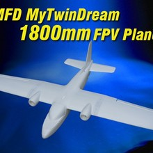 New MyTwinDream 1800mm FPV EPO RC Airplane Remote Control Electric Powered Glider UAV Model Plane Ra
