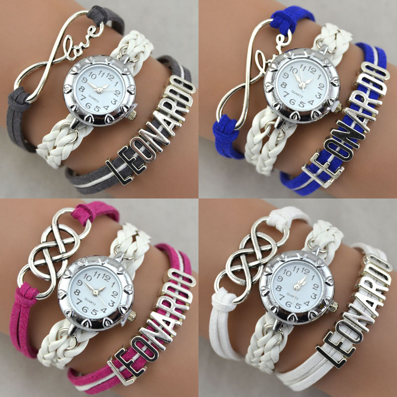 Fashion Bracelet Girl Latest Hand Watch Suede Fabric Band love ...