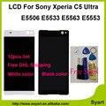 10 pçs/lote Novo lcd 6.0 polegadas lcd Um ++ Qualidade da Tela de Toque LCD assembléia digitador para sony xperia c5 ultra e5506 e5533 e5563 e5553