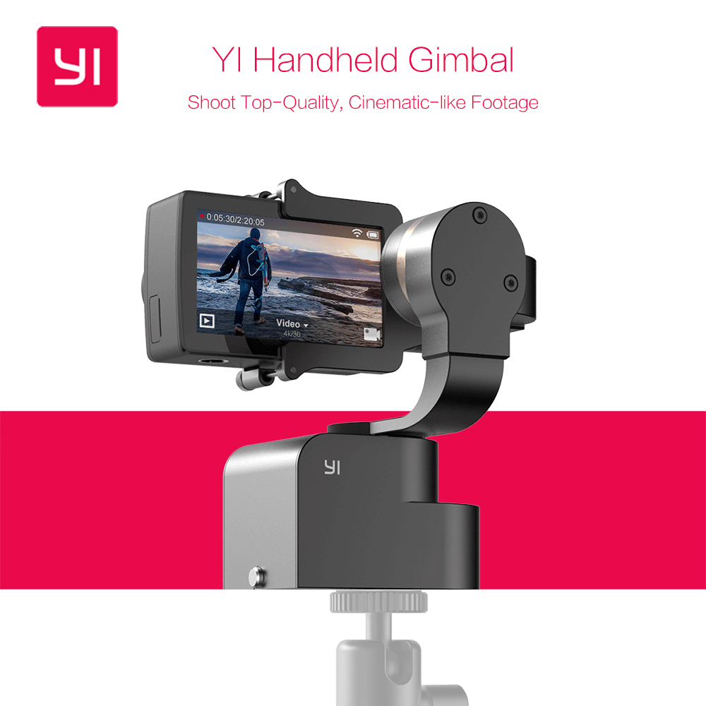 yi handheld gimbal with yi 4k action camera and selfie stick bluetooth re. Black Bedroom Furniture Sets. Home Design Ideas